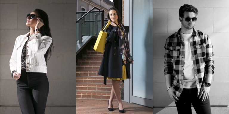 Shooting fashion photography magazine spreads for Whitefriars in Canterbury Kent.