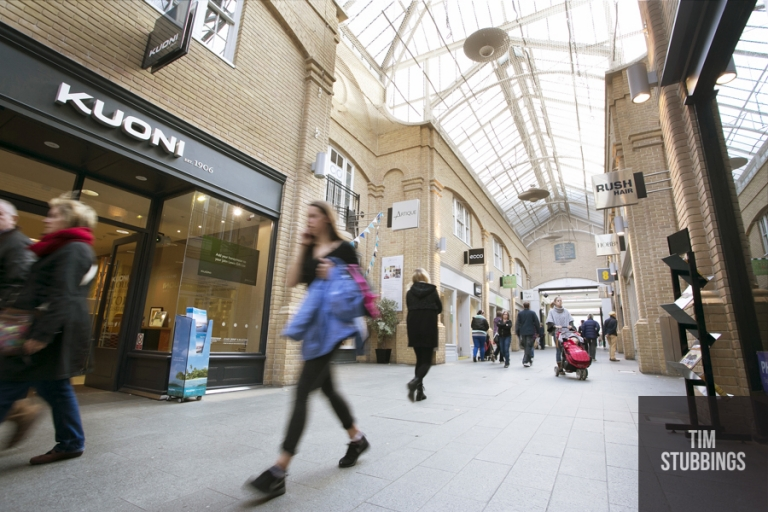 Photography for the Whitefriars retail development in Canterbury